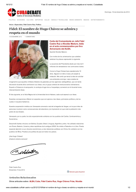 Fidel_ El nombre de Hugo Chávez se admira y respeta en el mundo _ Cubadebate-00001