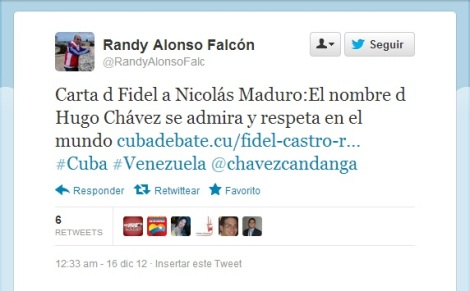 Tweet Randy Alonso Carta Castro-Maduro 2