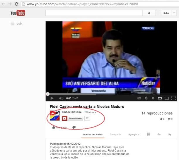 Video Maduro leyendo carta